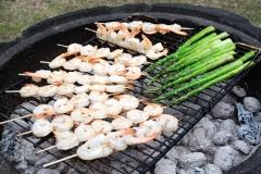 BBQ Shrimps and Asparagus